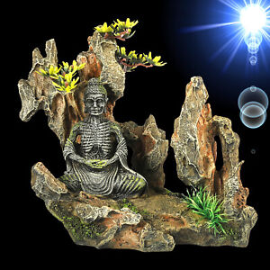Top Aquarium Deko Buddha Im Felsen Pflanzen Hohle Asien Gestein Zubehor Ebay