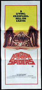 KINGDOM-OF-THE-SPIDERS-1977-William-Shatner-Sci-Fi-VINTAGE-Daybill-Movie-poster
