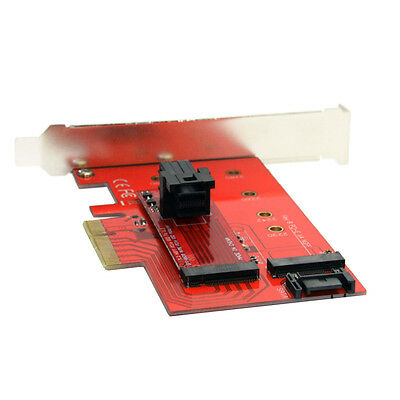 M.2 NGFF 4 Lane SSD to PCI-E 3.0 x4 /& NGFF to SATA Adapter for XP941 SM951 A110