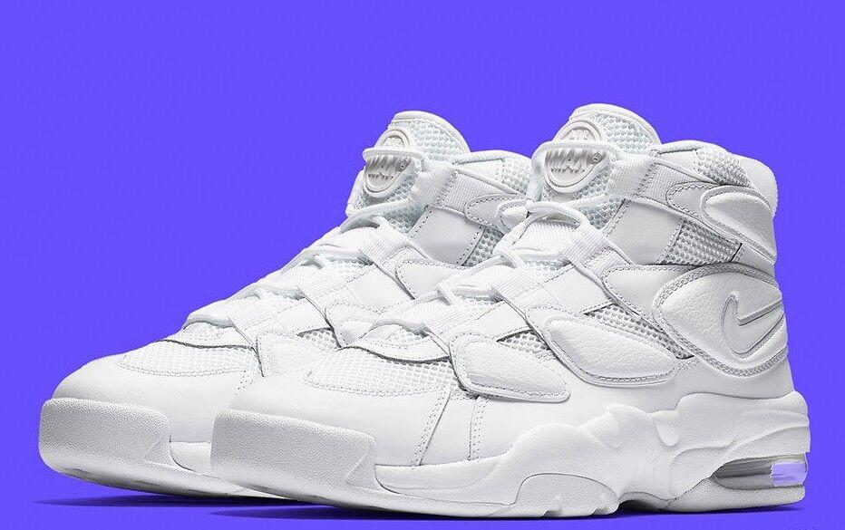 Nike air max2 ritmo 94 triplo bianco bianco bianco 922934 100 uomini basket scarpa 9 1b20c6
