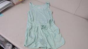 Xhilaration Mint Green 1 Pc Sleep Romper Pajamas Size Small or Large NEW TL44