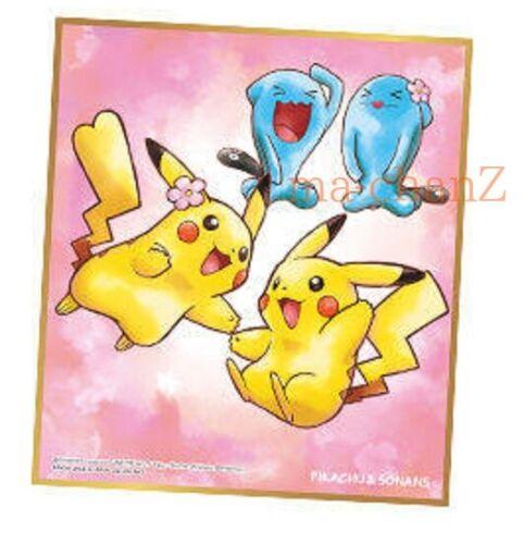 Pokemon Shikishi ART Part 2 Pikachu Wobbuffet Japanese.
