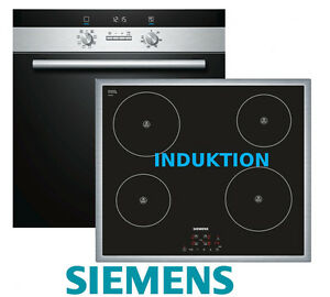 siemens herdset induktion autark backofen umluft induktions kochfeld 60cm neu ebay. Black Bedroom Furniture Sets. Home Design Ideas
