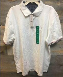 XXL NWOT Tommy Hilfiger Men/'s Short Sleeve Shirt Ivory