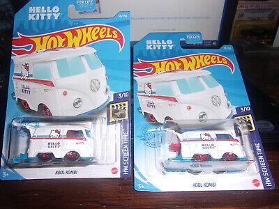 2021 Hot Wheels Barbie Camper Van /& Hello Kitty VW Kool Kombi VHTF Lot A Case