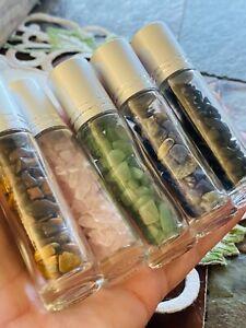 5-Rose-Quartz-Lapis-Aventurine-Tiger-Eye-Obsidian-Roll-On-Bottle-with-Gem-Ball