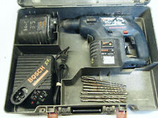 Bosch Hammer Drill 11225vsr 24v Sds With 2 Batteries Case And Drill Bits