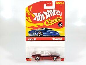Hot-Wheels-039-69-Camaro-Classics-Series-3-NEW-NOC-w-Protecto-1-64-Diecast