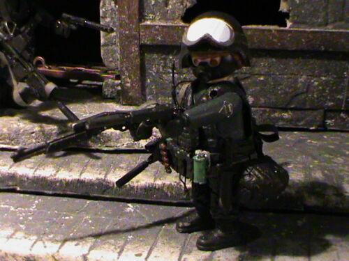 REF-0175 BIS PLAYMOBIL CUSTOM US ESPECIAL WEAPONS AND TACTICS 2015 SWAT