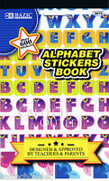 Childrens Kids Stickers Book Alphabet & Over 600 + Decorative Stickers