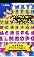 Childrens Kids Stickers Book Alphabet & Over 600 + Decorative Stickers