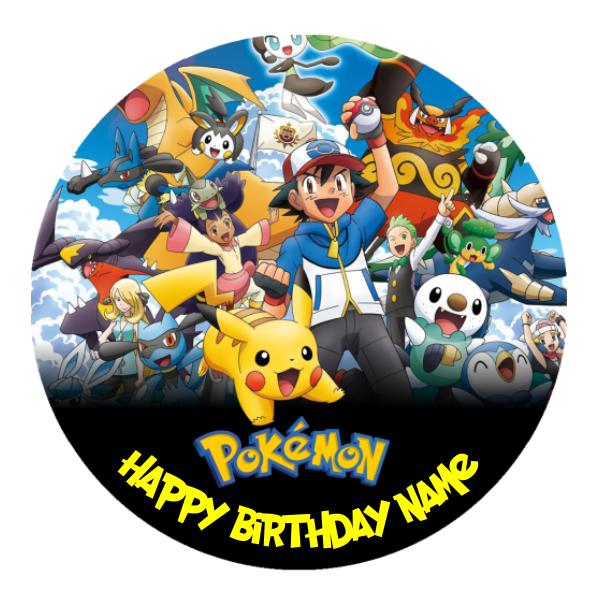 Pokemon Go Personalised Custom Edible Party Cake Decoration Topper Image