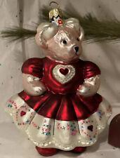 RARE Christopher Radko My Fair Lady Italian Glass Christmas Ornament 1999