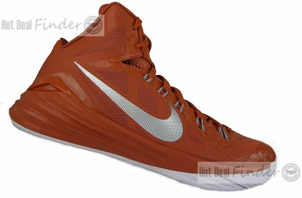 NIKE HYPERDUNK = SIZE 16 = TEXAS LONGHORNS SAMPLE PE BASKETBALL SHOES 685777-801 Seasonal clearance sale