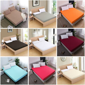 Egyptia-Fitted-Sheet-Bed-Sheet-Comfort-Bedding-Cover-Deep-Pocket-Full-King-Queen