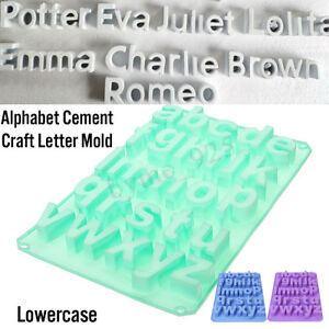 Image Is Loading Alphabet Cement Craft Letter Mould Silicone Concrete Wall