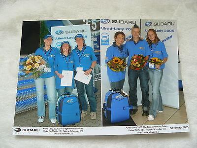 S0018 Presse-foto Werk-foto Pressfoto GüNstige VerkäUfe Siegerinnen Subaru Allrad-lady 2005