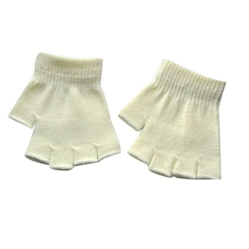 Kids Half-fingers Gloves Winter Warm Toddler Children Soft Knitting Mittens New