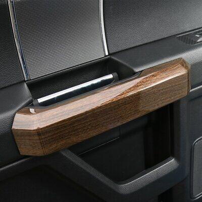 15-19 Ford F150 Black Wood Grain Interior Door Handle Pull Bezel Trim Cover