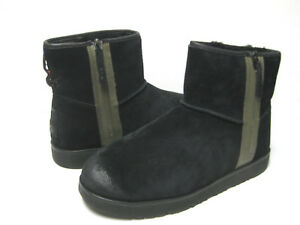 Ugg Classic Mini Zip Waterproof Men Ankle Boot Suede Black Us 15 Uk