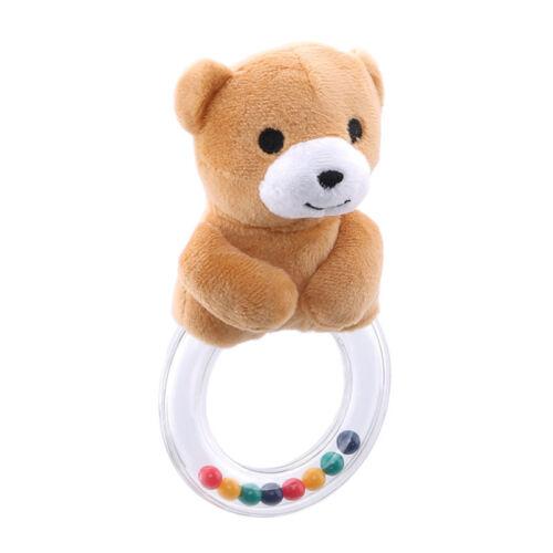 Baby Animal Hand Plush Bell Rattles Rattle Newborn Doll Soft Infant Toys 8C