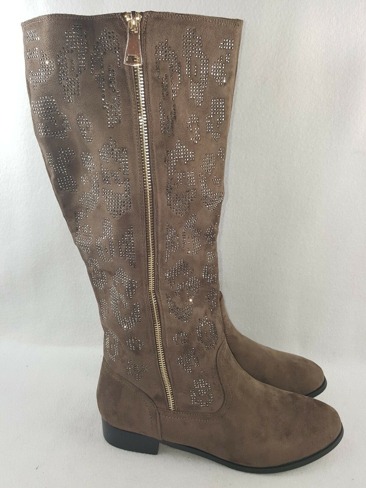 Italina By Summer Rio Women's Knee High Fashion Boots, Taupe Size 10