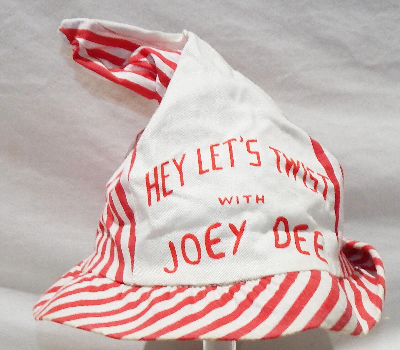 1960's Hey Let's Twist With Joey Dee Peppermint Twist Promo Hat