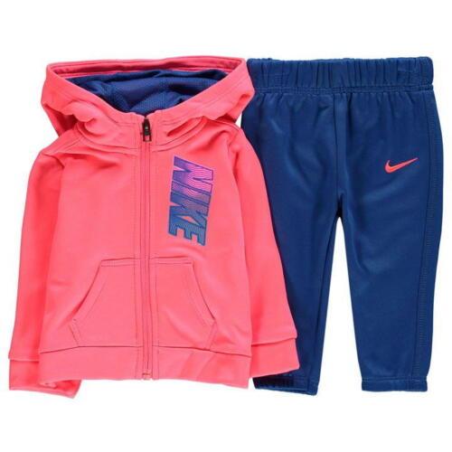 Nike Therma Infantil para Niños Chándal Cremallera Completa Con Capucha Jogging Suit-Rosa//Azul