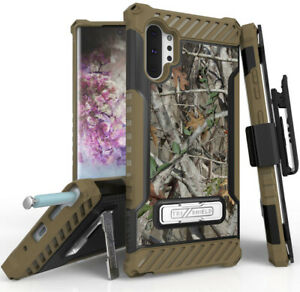 Autumn-Camo-Tree-Real-Woods-Case-Stand-Cover-Belt-Clip-for-Galaxy-Note-10-Plus