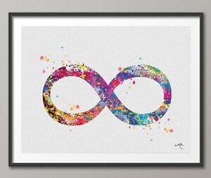 Image Is Loading Infinity Symbol Watercolor Art Print Wedding Gift Archival