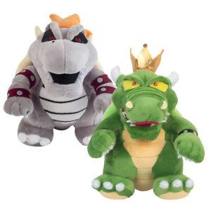 Details About Super Mario Bros King Koopa Bowser And Bones Koopa Bowser Soft Plush Toy 2pcs