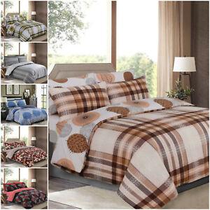 Nuevo-conjunto-de-ropa-de-cama-4Pcs-Algodon-Rico-Cubierta-del-edredon-edredon-con-almohadas-que