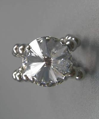 Gut Ausgebildete Neu Damenring 14mm Swarovski Stein In Kristallklar/klar GrÖßenverstellbar Ring BüGeln Nicht