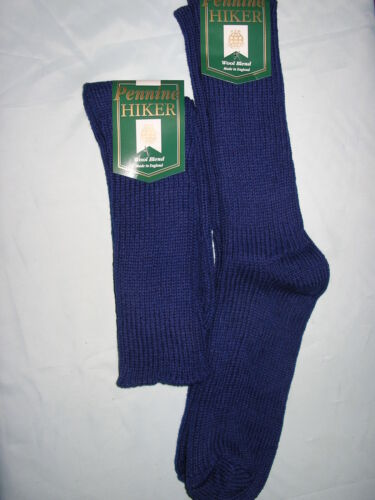 Gents laine Rambling Walking Chaussettes 2 Paire 7-11 made in Great Britain