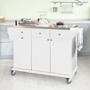 Dettagli su SoBuy® Carrello di servizio,Scaffale da cucina,Buttler,Mobili  cucina,FKW33-W, IT