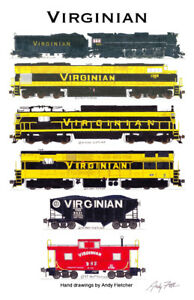 Virginian-Railway-11-034-x17-034-Railroad-Poster-by-Andy-Fletcher-signed