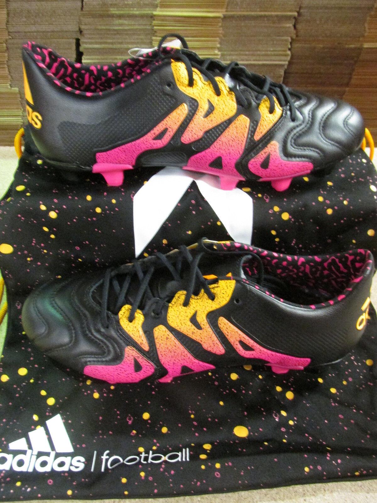 Adidas x 15.1 FgAg pelle Uomo AQ5791 Calcio Tacchetti