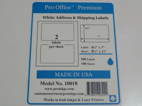 Pro Office Premium SelfAdhesive Round Corner Shipping Labels 10sheets 20 labels