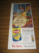 1950 Print Ad Ray-O-Vac Flashlight Batteries Battery Mom Tucks in Baby for Bed