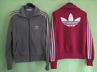 Lot 2 veste Adidas Originals rose marron Trefoil Jacket Femme style vintage 36 | eBay