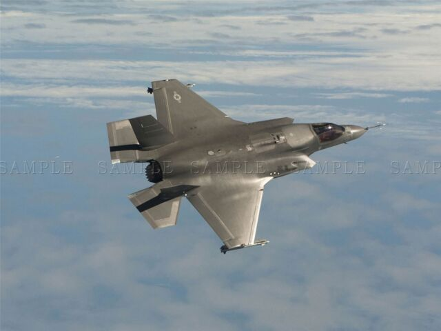 WAR AIR FORCE FIGHTER JET FLIGHT FLY BOMBER F35B LIGHTNING PRINT BB3301A
