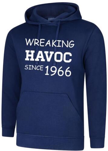 53rd Birthday Present Gift Wreaking Havoc Since 1966 Mens Womens Hoodie Hoody