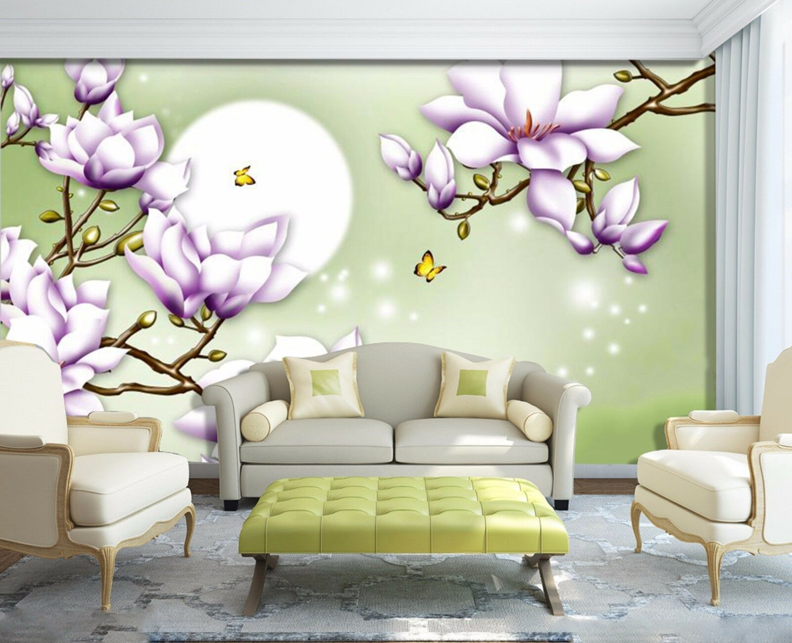 3D Moonlight peach 242 Wall Paper Wall Print Decal Wall Indoor Murals Wall US