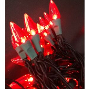 Details Lichterkette Zu 50 Weihnachtsbeleuchtung Tropfenform Led Lampen Partylichter Rot A5jR4L