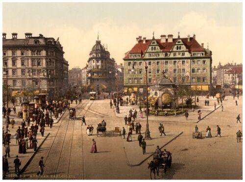 Munich Karlsplatz approx 1890 Paper Canvas