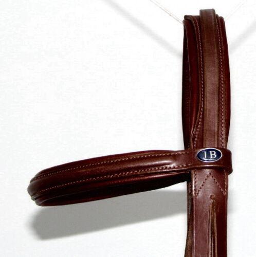 FSS Slimline en forme de Confort Rembourré headiece Crown Manivelle Cavesson Everyday Bridle