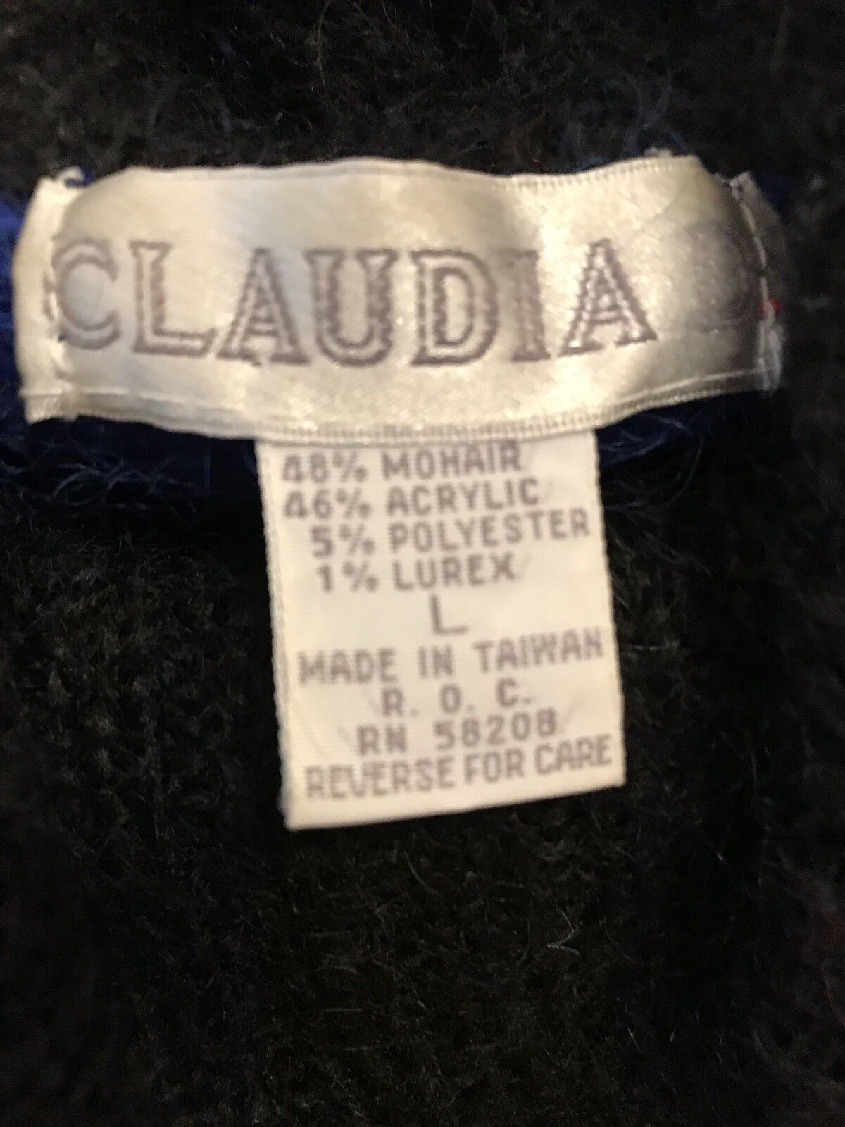 Claudia D Vintage Woman Woman Woman Mohair Sweater Size Large 2b228f