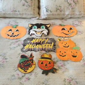 Details About Vintage Halloween Decorations Lot Of 7