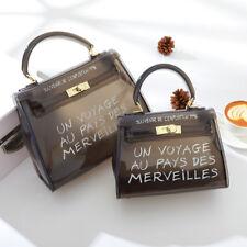 Women Crossbody Party Package Transparent Alphabet Jelly Bag Shoulder Messenger