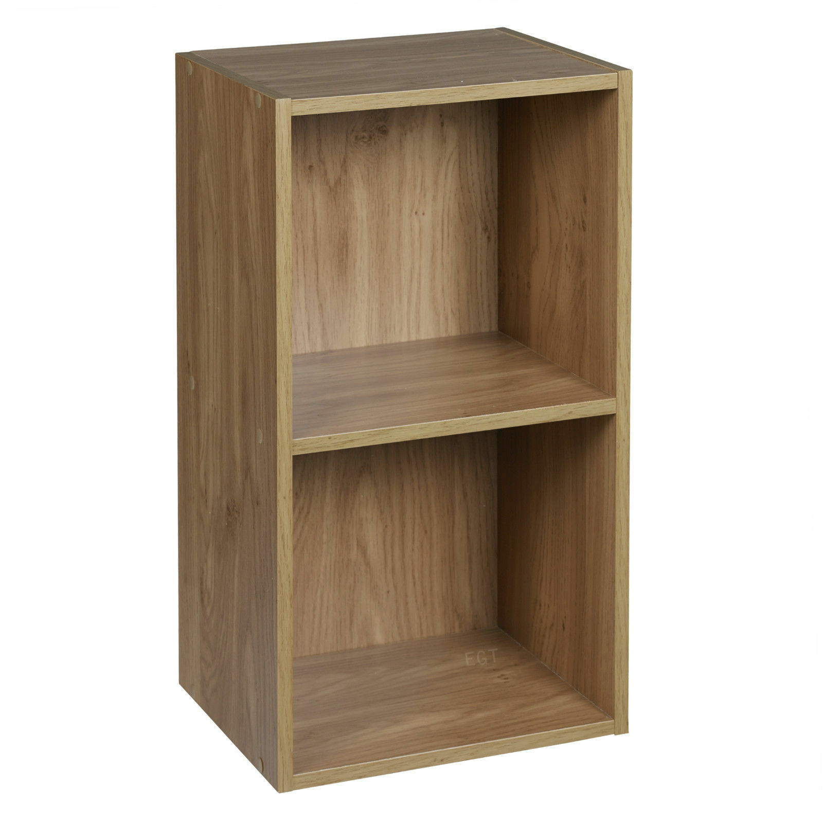 storage shelving unit oak colour 1 2 3 4 tier wooden book display 26895
